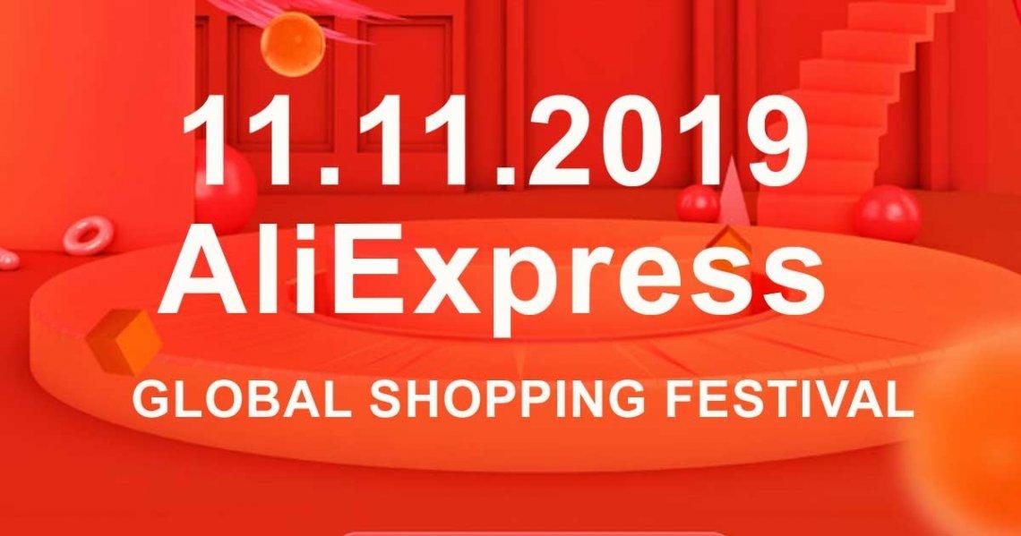 Aliexpress - 11. listopadu 2019, speciální slevy, aliexpress listopad 2019