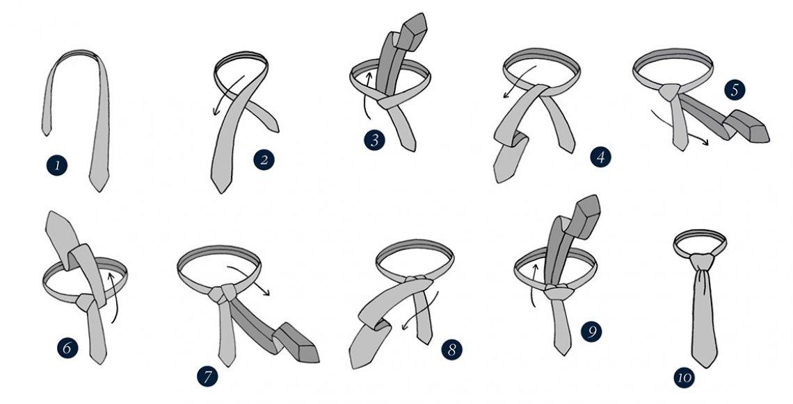 Jak uvázat kravaty windsor, vázání kravaty, návod kravata