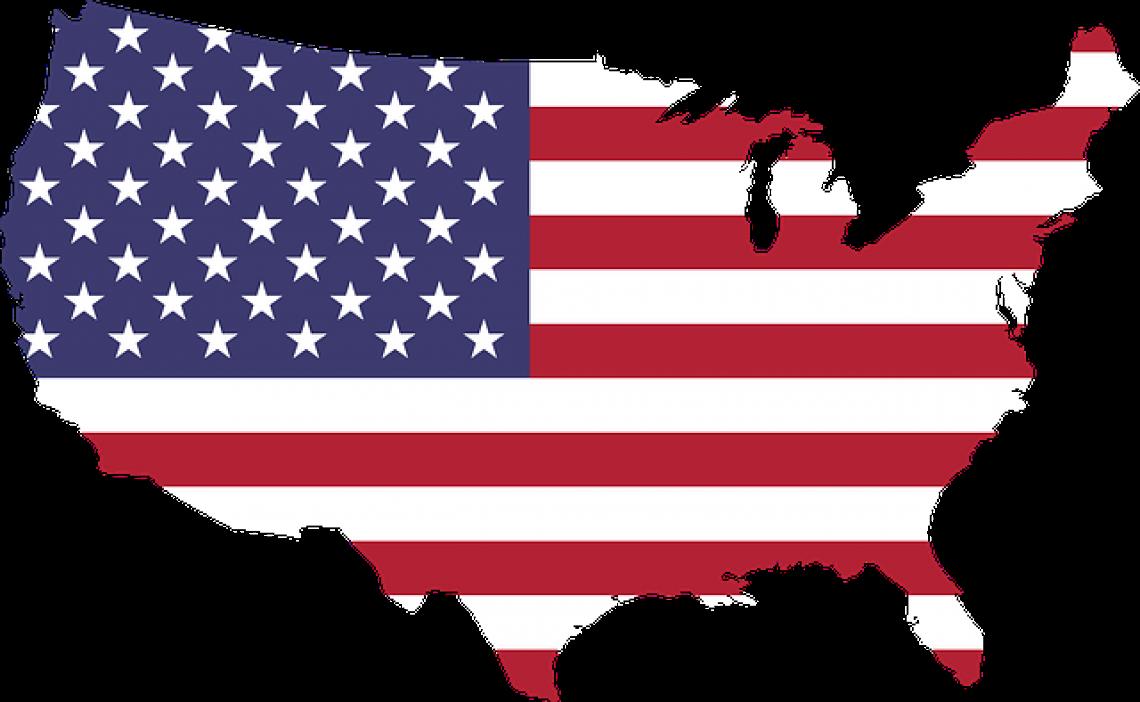 Práce v USA: mapa Spojených států