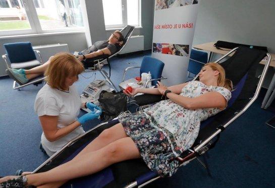 Pravidelné darování krve pro ÚVN Střešovice