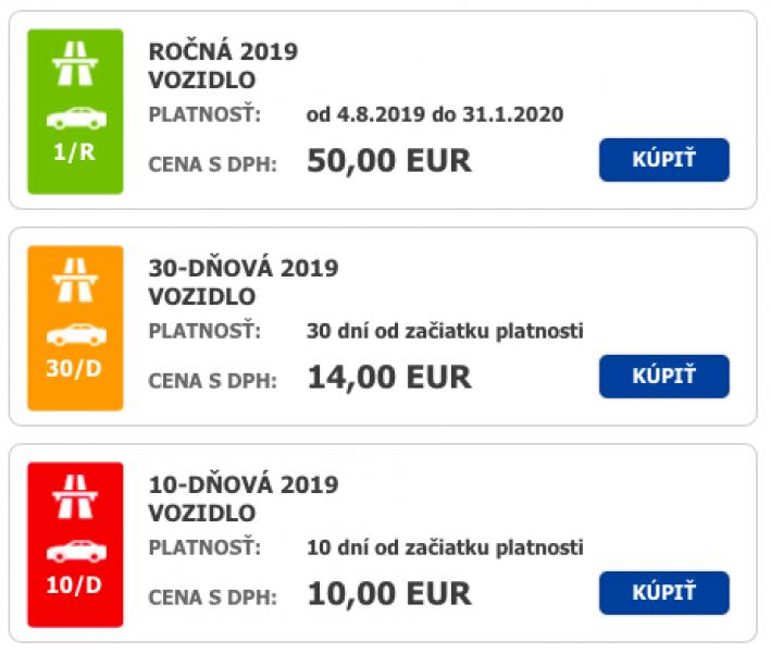 Dálniční známka Slovensko nejlevněji!