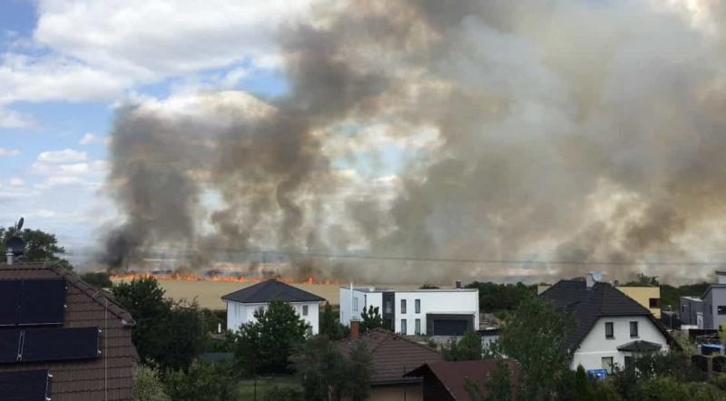 co způsobuje nejčastěji letní požáry, letní požár Praha-východ